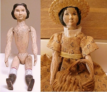 hand carved Ash hitty doll